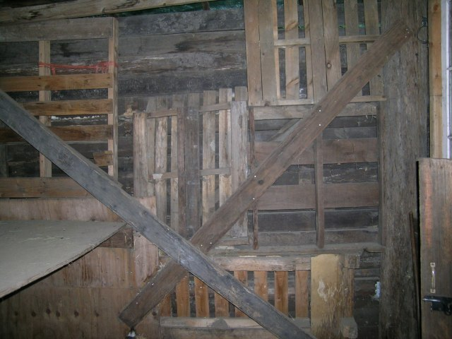 Inside view of wall