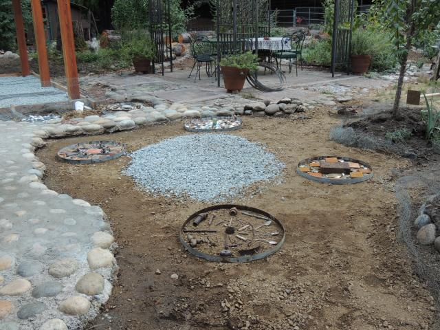 Laying out stepping stones