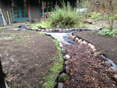 mulch in path